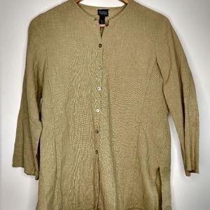 Eileen Fisher Petite Orangic Cotton Textured Tunic